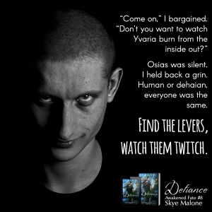 Find the levers, watch them twitch - Defiance by Skye Malone