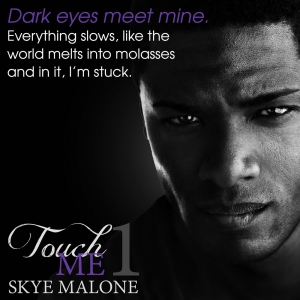 Touch Me 1 by Skye Malone - Excerpt - Dark eyes met mine