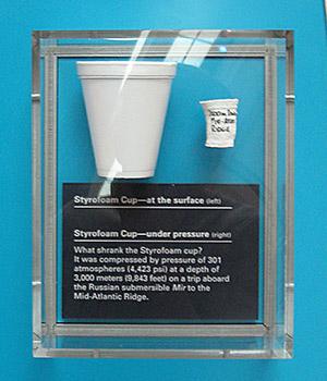 Styrofoam cup under pressure