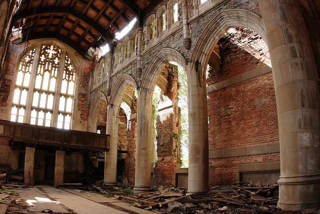Abandoned Methodist Church Image by slworking2 of Flickr