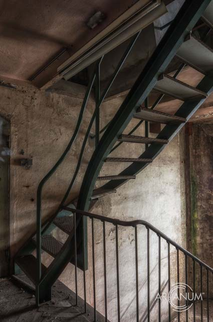Stairs at Abandoned Rubber Factory by Jan Bommes
