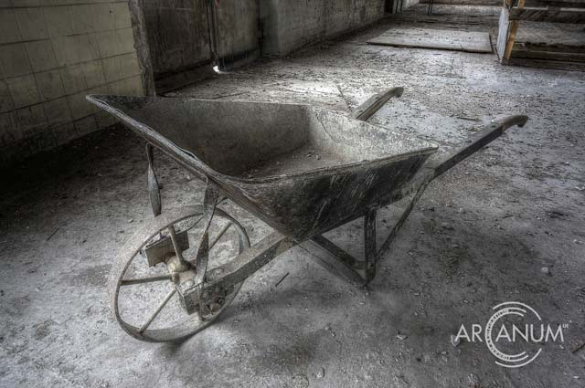 Wheelbarrow at Rubber Factory by Jan Bommes